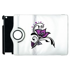 Awareness Flower Apple iPad 3/4 Flip 360 Case