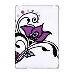 Awareness Flower Apple Ipad Mini Hardshell Case (compatible With Smart Cover)