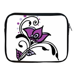 Awareness Flower Apple Ipad Zippered Sleeve