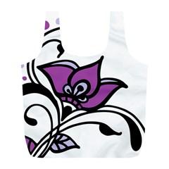 Awareness Flower Reusable Bag (L)