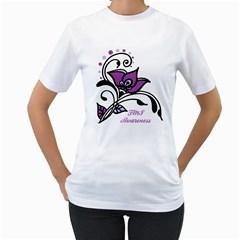 Awareness Flower Women s T-Shirt (White)