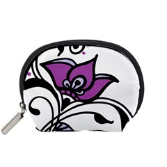 Awareness Flower Accessory Pouch (Small)