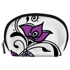 Awareness Flower Accessory Pouch (Large)