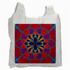 Mandala White Reusable Bag (Two Sides)