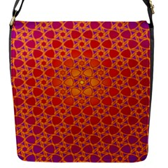 Radial Flower Flap Closure Messenger Bag (Small)