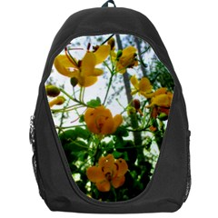Yellow Flowers Backpack Bag