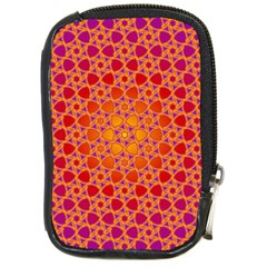 Radial Flower Compact Camera Leather Case