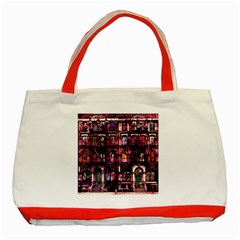 Physical Graffitied Classic Tote Bag (Red)