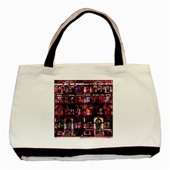 Physical Graffitied Twin Sided Black Tote Bag