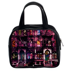 Physical Graffitied Classic Handbag (two Sides)