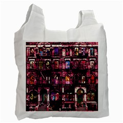 Physical Graffitied White Reusable Bag (Two Sides)