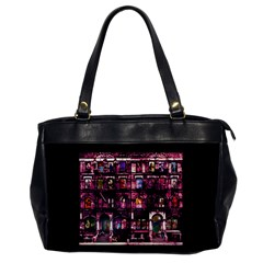 Physical Graffitied Oversize Office Handbag (one Side)