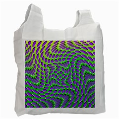 Illusion Delusion White Reusable Bag (one Side)