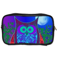 Moon Owl Travel Toiletry Bag (two Sides)