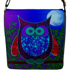 Moon Owl Flap Closure Messenger Bag (small)