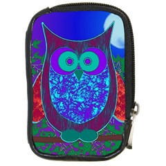 Moon Owl  Compact Camera Leather Case