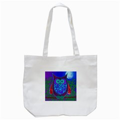 Moon Owl  Tote Bag (white)