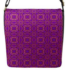 Purple Moroccan Pattern Flap Closure Messenger Bag (small)