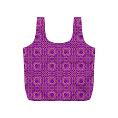 Purple Moroccan Pattern Reusable Bag (S)