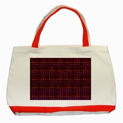 Funky Retro Pattern Classic Tote Bag (Red)