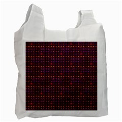 Funky Retro Pattern White Reusable Bag (one Side)