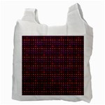 Funky Retro Pattern White Reusable Bag (Two Sides) Back
