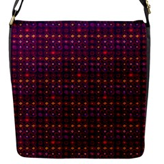 Funky Retro Pattern Flap Closure Messenger Bag (Small)