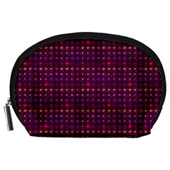 Funky Retro Pattern Accessory Pouch (large)