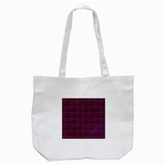 Funky Retro Pattern Tote Bag (White)