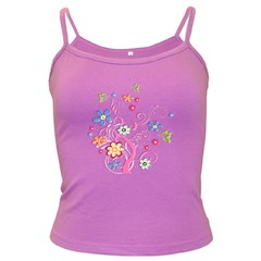 Flowery Flower Spaghetti Top (Colored)