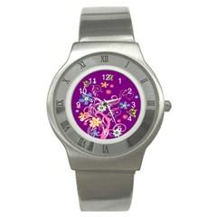 Flowery Flower Stainless Steel Watch (slim)