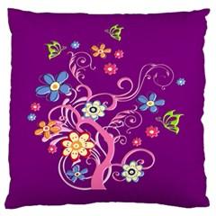 Flowery Flower Large Cushion Case (single Sided)