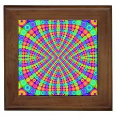 Many Circles Framed Ceramic Tile