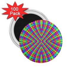 Many Circles 2.25  Button Magnet (100 pack)