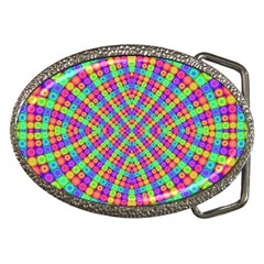 Many Circles Belt Buckle (Oval)