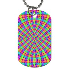 Many Circles Dog Tag (one Sided)