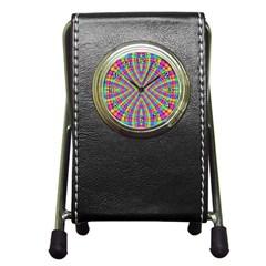 Many Circles Stationery Holder Clock