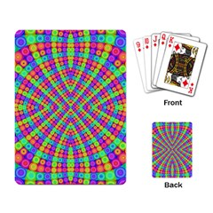 Many Circles Playing Cards Single Design