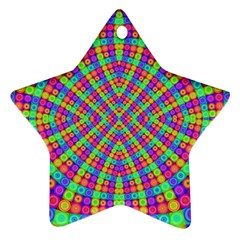 Many Circles Star Ornament (Two Sides)
