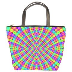Many Circles Bucket Handbag