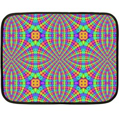 Many Circles Mini Fleece Blanket (Two Sided)