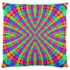Many Circles Large Cushion Case (two Sided)