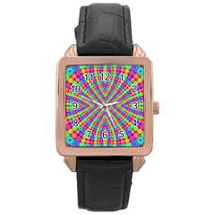 Many Circles Rose Gold Leather Watch