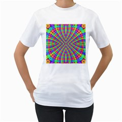Many Circles Women s T Shirt (white)
