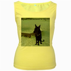 Snowy Gsd Women s Tank Top (Yellow)