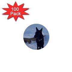 Snowy Gsd 1  Mini Button (100 Pack)