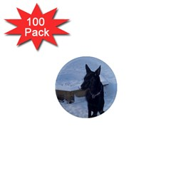 Snowy Gsd 1  Mini Button Magnet (100 Pack)