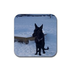 Snowy Gsd Drink Coaster (Square)