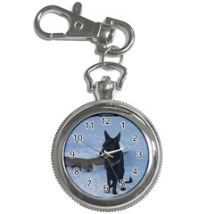Snowy Gsd Key Chain Watch