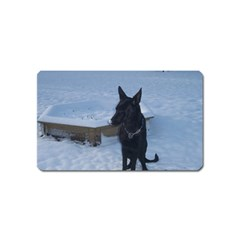 Snowy Gsd Magnet (Name Card)